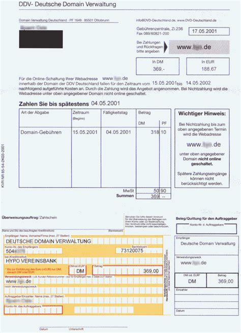 Rechnung Privatperson An Firma Tu Berlin Hoax Blatt Betrug Domain Rechnungen