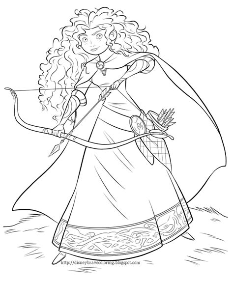 Princess Merida Coloring Page | princess coloring pages