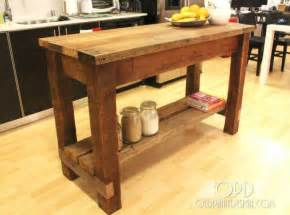 Rustic Kitchen Island Plans by 30 Rustic Diy Kitchen Island Ideas