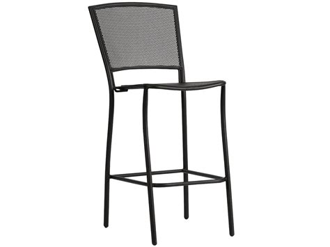 Black Wrought Iron Bar Stools by Woodard Albion Wrought Iron Bar Stool In Textured Black