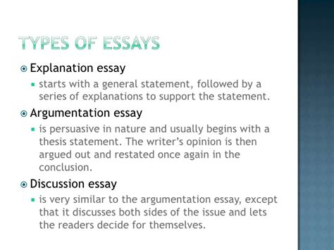 5 Types Of Essays by College Essays College Application Essays 5 Types Of Essays