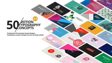 motion 5 typography 50 motion typography concepts corporate after effects templates f5 design