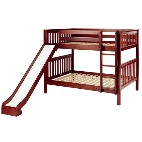 Bunk Bed With Slides Smile Playhouse Bunk Bed With Slide And Ladder In Chestnut By Maxtrix 720 0s