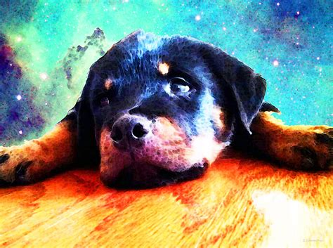 puppy painting rottie puppy by painting by