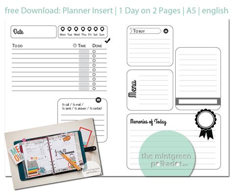 free printable day planner pages 2014 free filofax a4 and a5 diary inserts for 2014 download