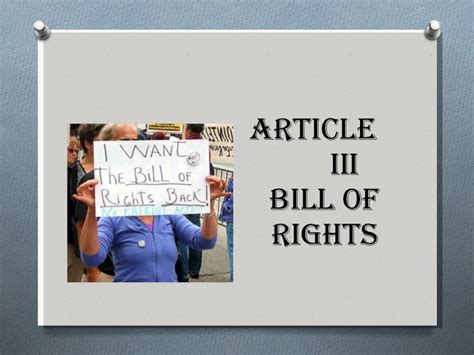 section 1 bill of rights article iii bill of rights