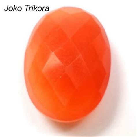Batu Orange Chalcedony batu permata orange chalcedony jk078 joko permata