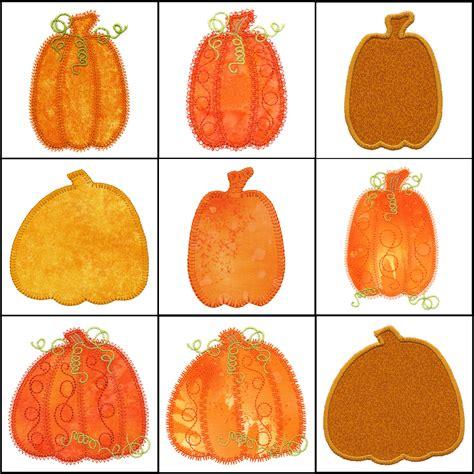 Rle Instan set of pumpkin applique machine embroidery designs instant