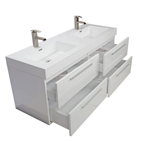 54 bathroom vanity double sink buy 54 inch modern double sink vanity set with drawers