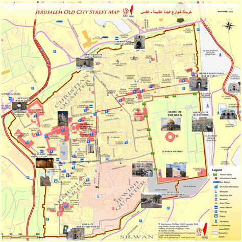jerusalem map maps update 1200842 jerusalem tourist map 15 toprated