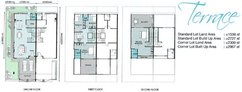 terraced house floor plan permai villa a guarded gated freehold community