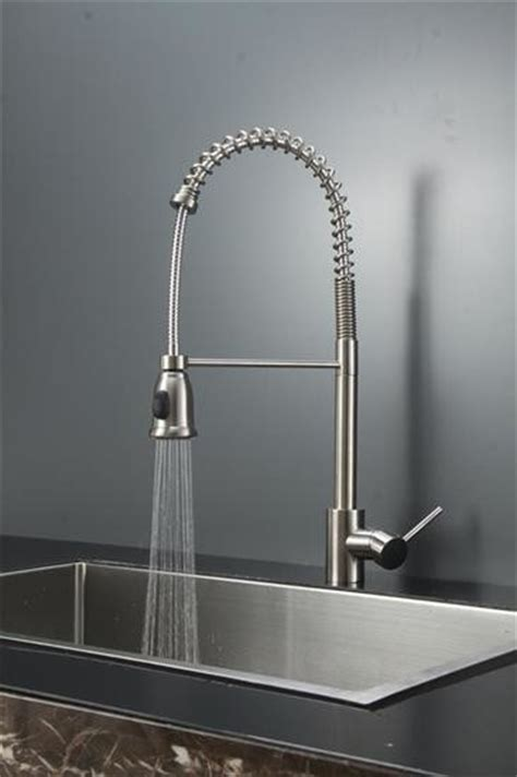 industrial kitchen faucets stainless steel ruvati rvf1215st commercial style pullout spray kitchen