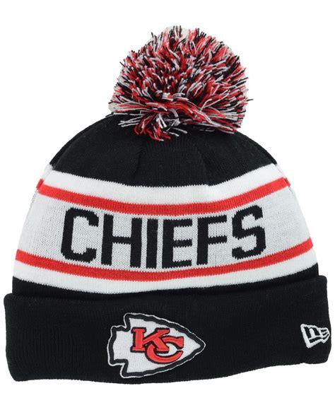 kansas city chiefs knit hat ktz kansas city chiefs fan knit hat in black for
