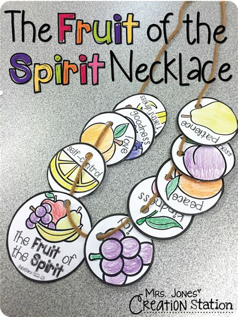 fruit of the spirit crafts for the fruit of the spirit necklace mrs jones creation