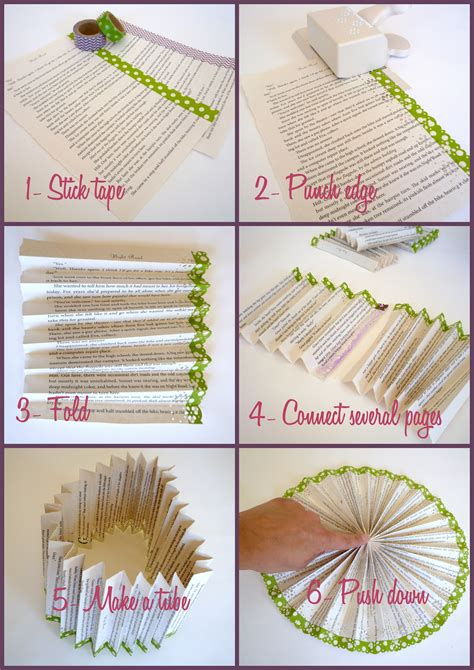 Make Paper Fan - washi embellished paper medallions diy catch my