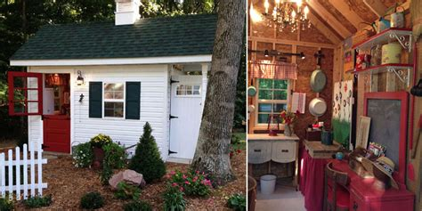 Shed Decorating Ideas by Garden Shed For A She Shed With Decor