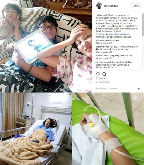 Ranjang Anak Rumah Sakit della puspita sempat jatuh sakit hingga dilarikan ke rumah sakit kenapa kabar berita