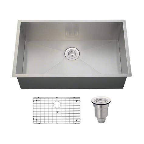 one basin kitchen sink frigidaire professional undermount stainless steel 28 5
