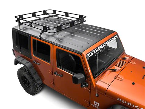 Jeep Wrangler Top Roof Rack by Surco Safari Removable Wrangler Hardtop Rack Kit 07 17