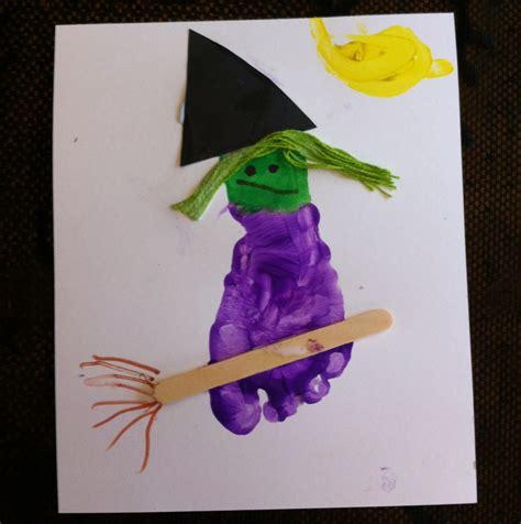 preschool crafts for preschool crafts for footprint witch