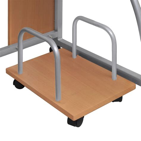 desk pull out drawer vidaxl co uk mobile computer desk pull out tray brown