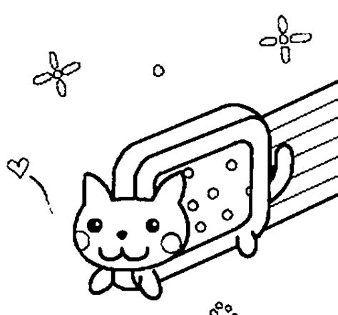 pusheen nyan cat coloring page to color coloring pages