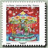 timbre 2013 les petits bonheurs carrousel carnet 171 les petits bonheurs 187 timbre de 2013
