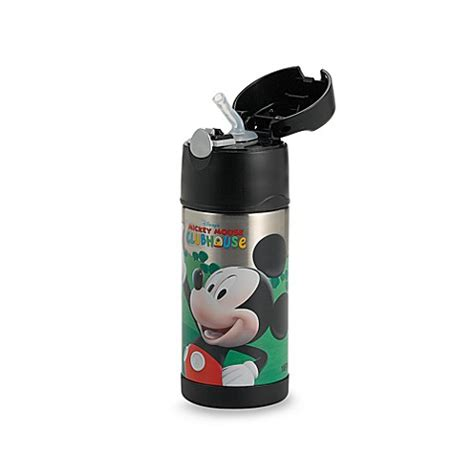termos mickey thermos 174 funtainer mickey mouse 12 ounce straw bottle