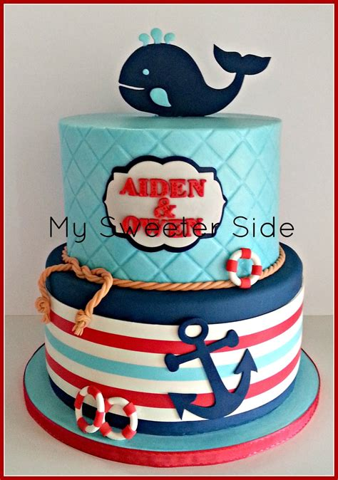 happy  birthday aiden  owen top tier  covered  buttercream bottom tier  covered