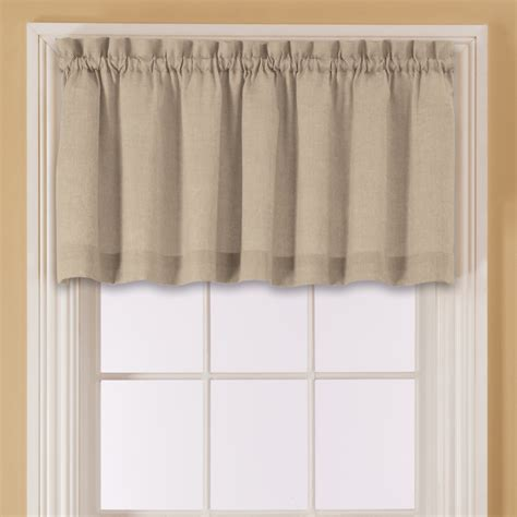 sears outlet curtains essential home window valance sand