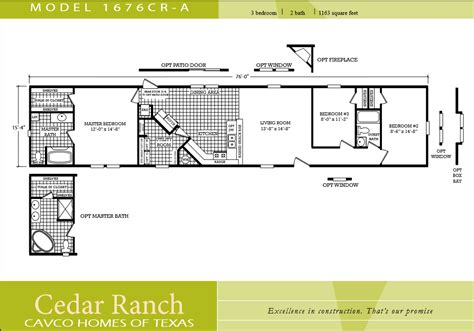 3 bedroom mobile home floor plans scotbilt mobile home floor plans singelwide single wide