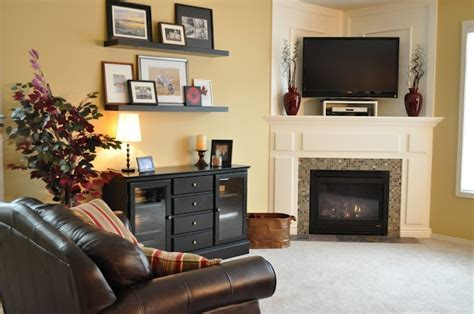 living room corner ideas how to and how not to decorate a corner fireplace mantel