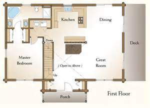 Home Floor The Claremont Log Home Floor Plans Nh Custom Log Homes