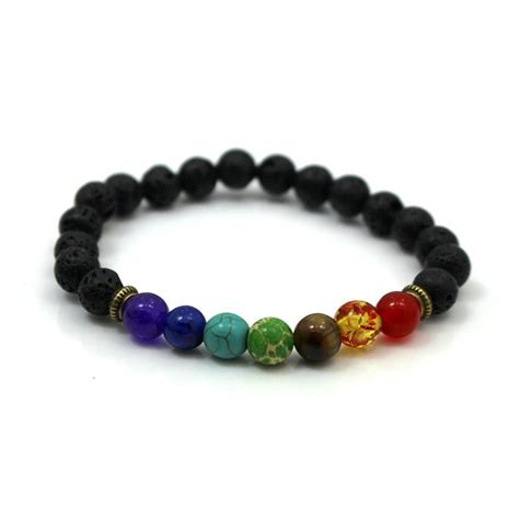 7 chakra healing beaded bracelet lava bracelet jewelry accessories gift