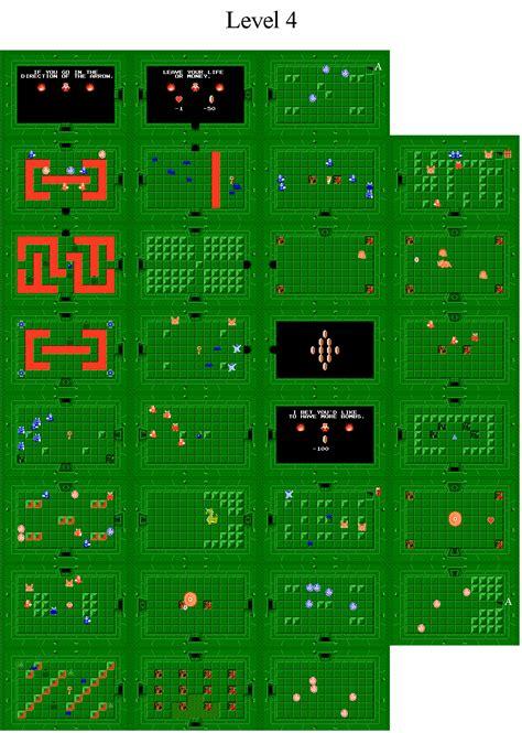 legend of zelda map quest 2 level 4 the legend of zelda world dungeon maps