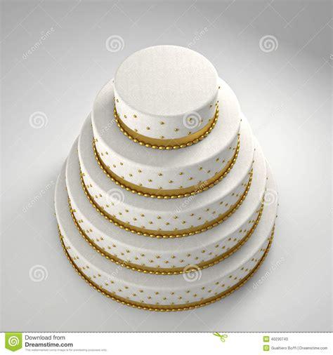 Goldene Hochzeitstorte by Goldene Hochzeitstorte Stock Abbildung Illustration