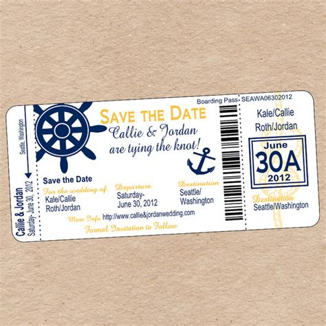 save the date boarding pass bing images