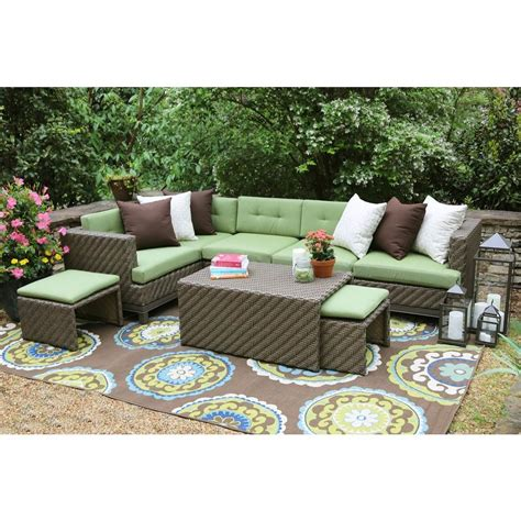 sunbrella outdoor sectional ae outdoor hillborough 4 piece all weather wicker patio