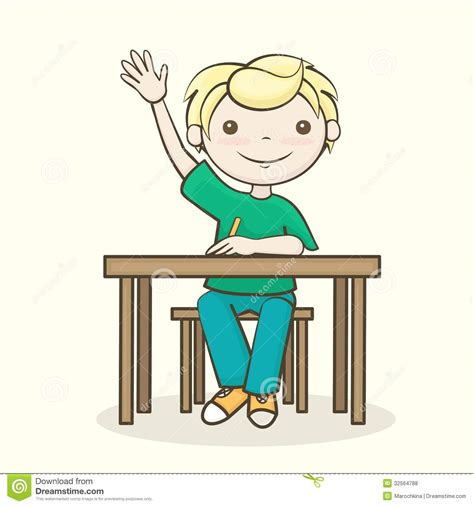 Raising Hand Clipart Clipart Panda Free Clipart Images Student Sitting At Desk Clipart