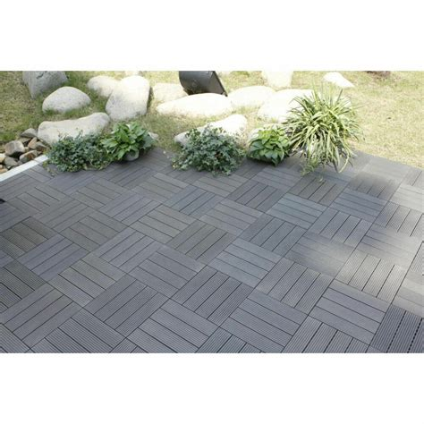 patio floor tiles pack of 11 outdoor deck patio driveway flooring