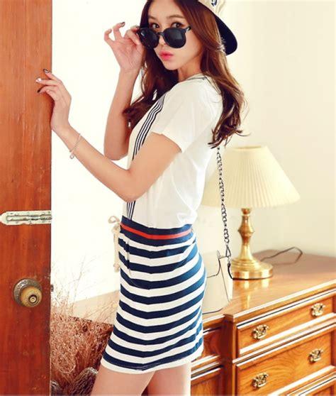 Preorder Dress Wanita Import Premium High Quality 29 jual beli casual dress putih motif jumpsuit garis baju pantai dress pantai quality