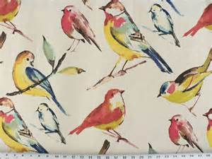 Bird Upholstery Fabric by Drapery Upholstery Fabric Bird Branch Watercolor Screen