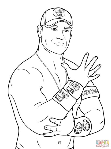 John Cena Coloring Page Free Printable Coloring Pages Cena Coloring Pages