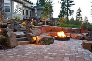 How To Make A Backyard Fire Pit Cheap by Spokane Amp Coeur D Alene Backyard Fire Pit Design