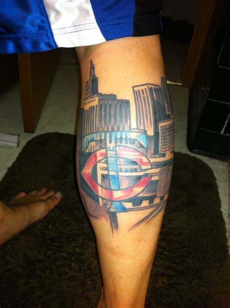 mpls tattoo minneapolis skyline