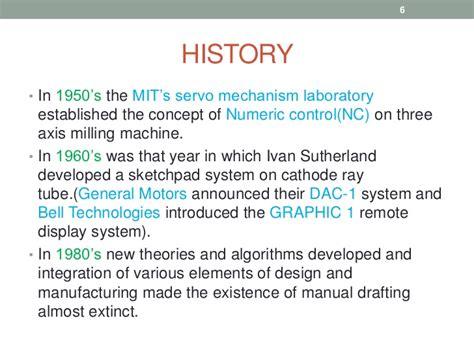 design historical definition cad cam
