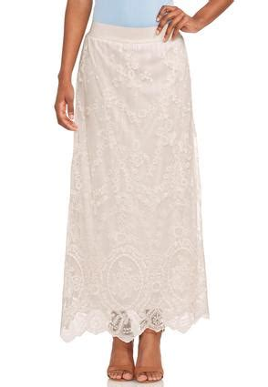 scalloped lace maxi skirt skirts cato fashions
