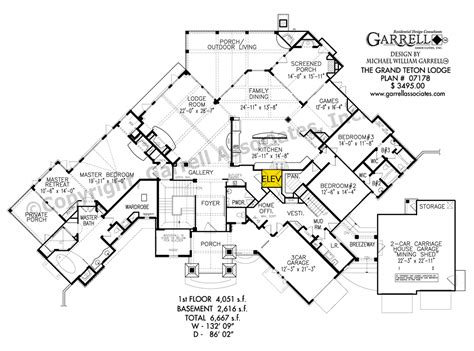 mountain lodge floor plans grand teton lodge house plan house plans by garrell