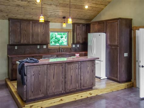 dark oak kitchen cabinets staining oak cabinets dark walnut home everydayentropy