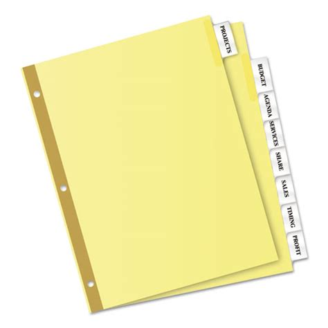 insertable big tab dividers 8 tab letter exceptional